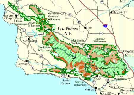 Map - Roadless Areas in LPNF
