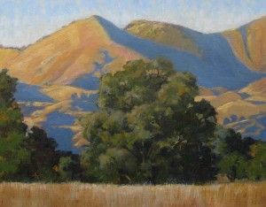 """Evening View Grass Mountain"" Dotty Hawthorne, oil, 11"" x 14"" unframed, 19"" x 22"" framed $775"