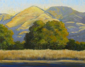 """Morning View Grass Mountain"" Dotty Hawthorne, oil, 11"" x 14"" unframed, 19"" x 22"" framed $775"