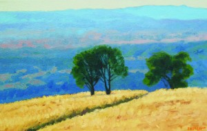 """View from Figueroa Mountain"" Bruce Everett, oil, 11″ x 17″ $750"