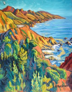 """Big Sur"" Ken Christensen, 30″ x 24″ $2,900"