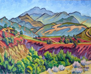 """Valley Panorama"" Ken Christensen, 24″ x 30″ $2,900"