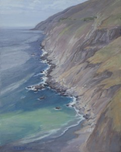 """Los Padres Coastline"" Nancy Becker, oil on linen, 20″ x 16″ $1600"
