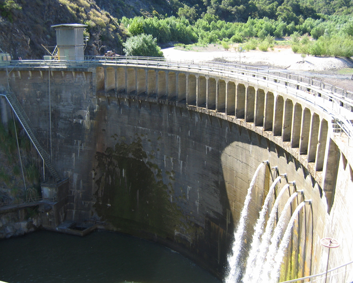san-clemente-dam with water