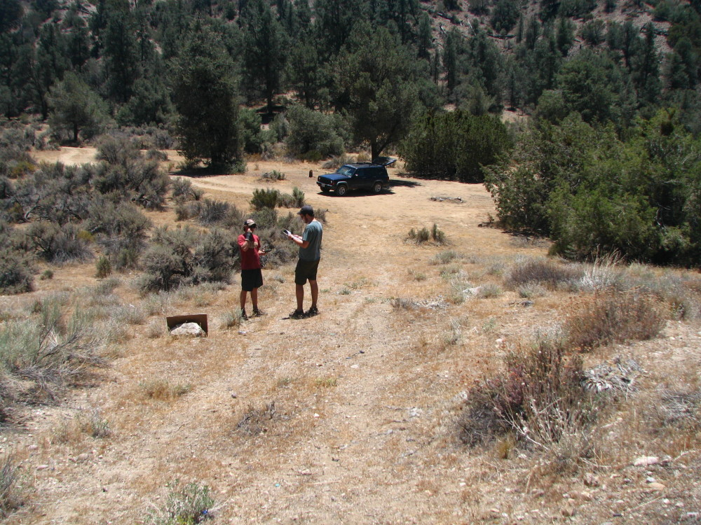 Surveying target shooting sites in the Mt. Pinos Ranger District