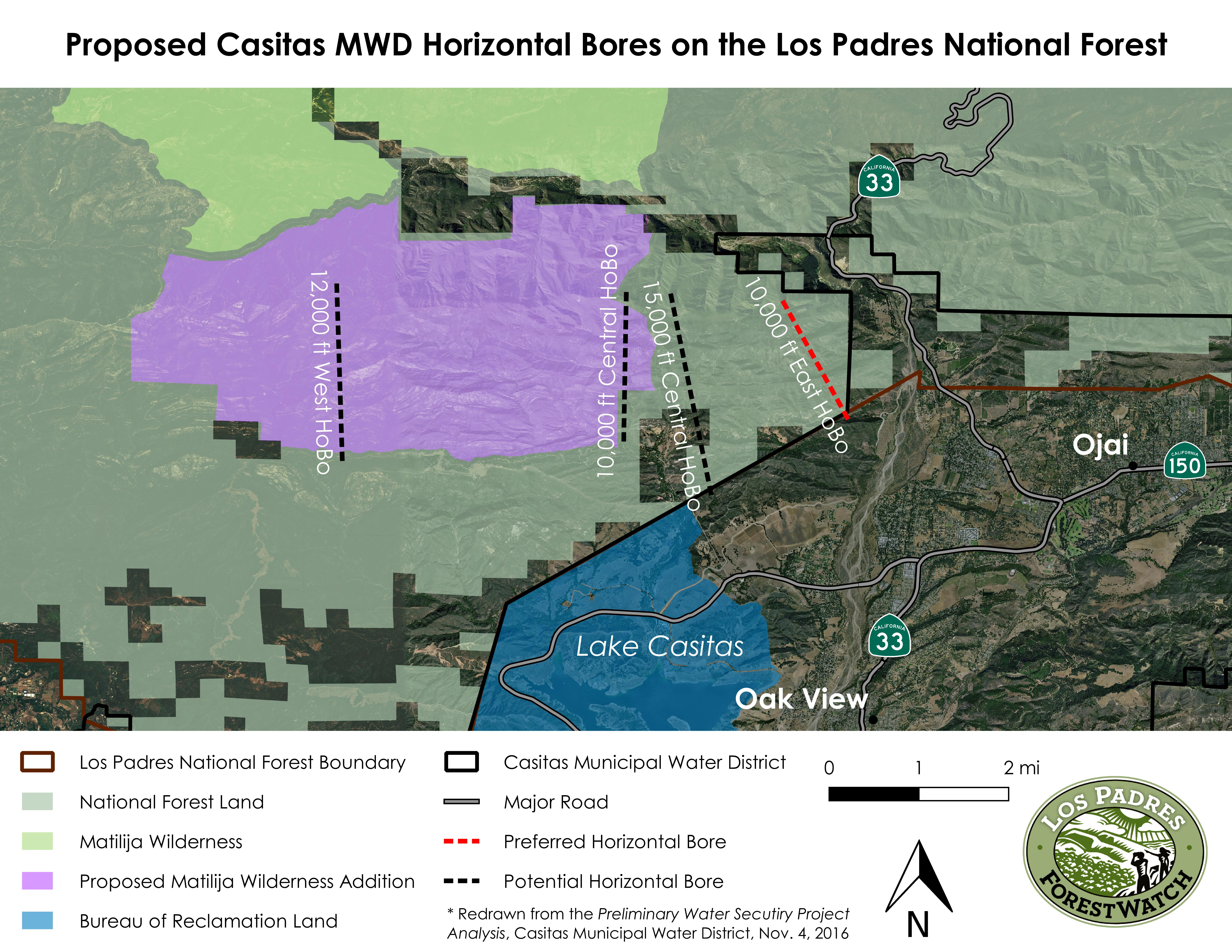 Water District Plans To Siphon Groundwater From Ojai Mountains - Horizontal us map