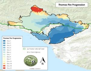 Thomas Fire Los Padres Forestwatch