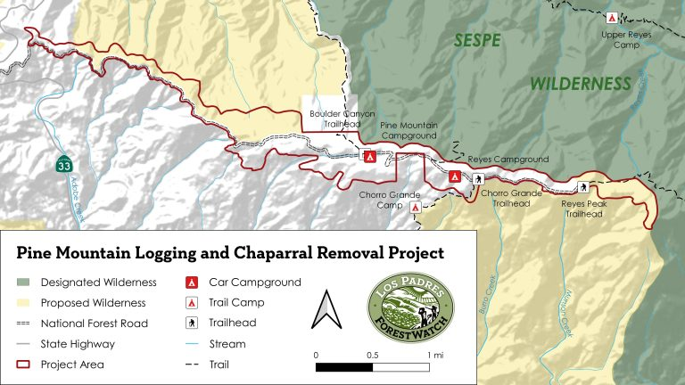 pine mountain logging and chaparral removal project